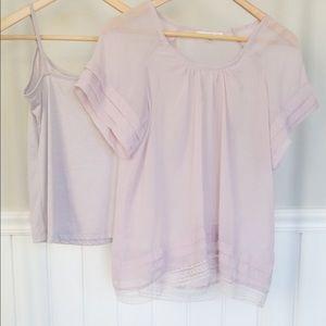 2 piece blouse set
